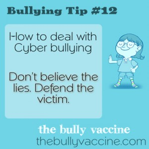 Bullying Tip #12: How to deal with cyber bullying