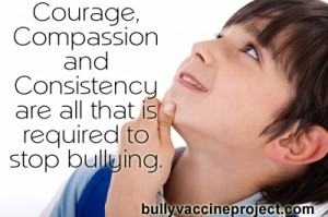 Courage, Compassion and Consistency stop bullying