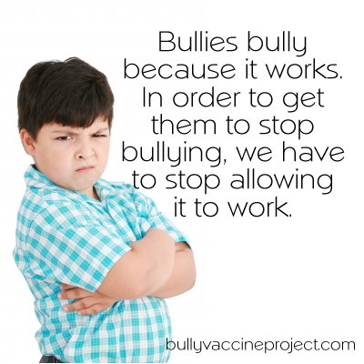 Bullies bully because it works
