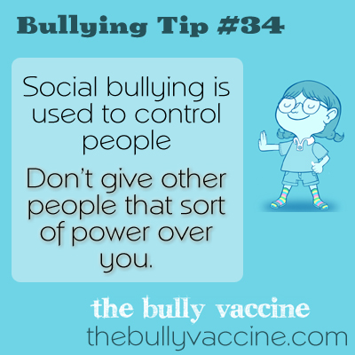 Bullying tip #34: How to take your power back from a bully