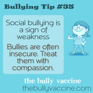 Bullying Tip #35: Why bullies bully and why their insecurity matters.